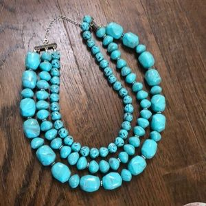 Turquoise necklace three strands